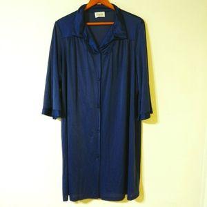 Vtg Vanity Fair Soft Nylon robe Dressing Gown